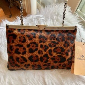 PATRICIA NASH Leopard Collection Asher Clutch
